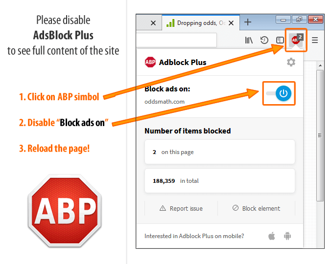 Disable AdBlockPlus